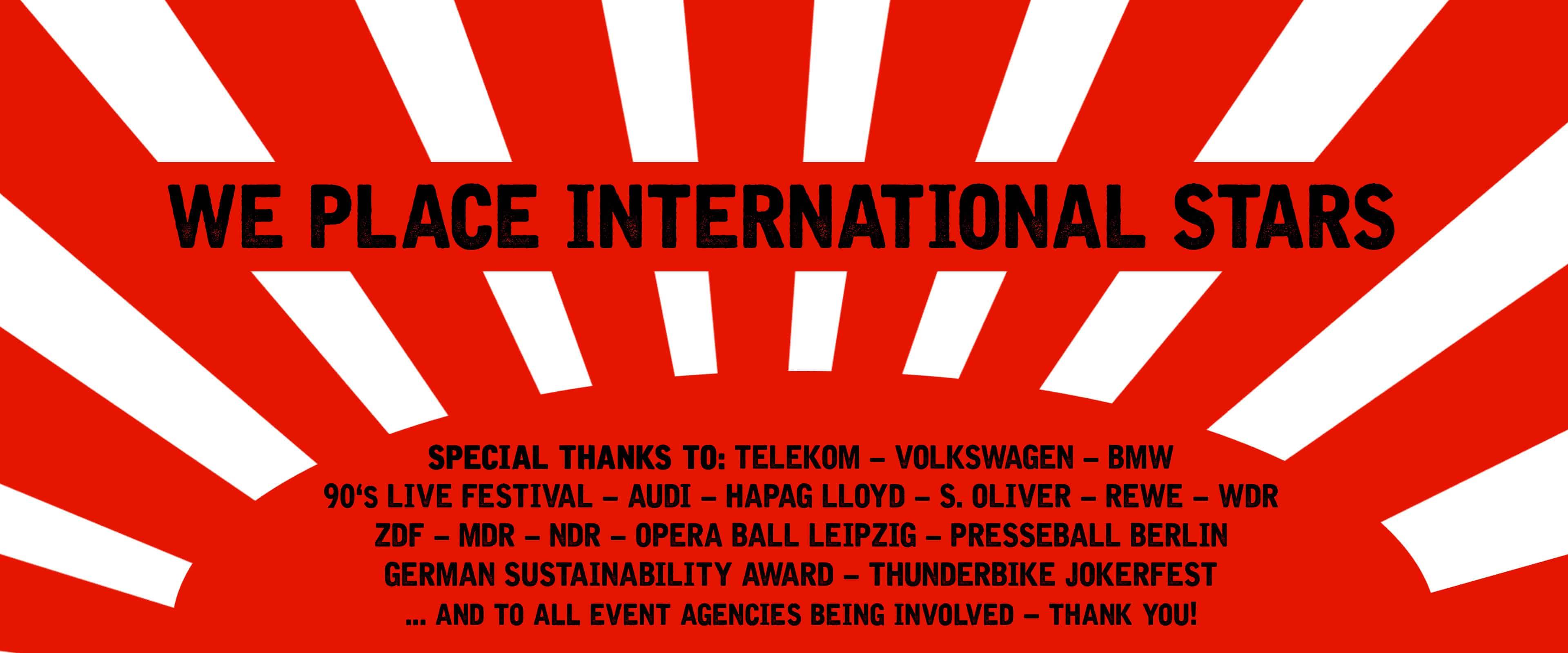 Künstler buchen - Stars für events