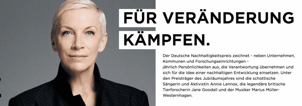 Deutscher Nachhltigkeitspreis Annie Lennox