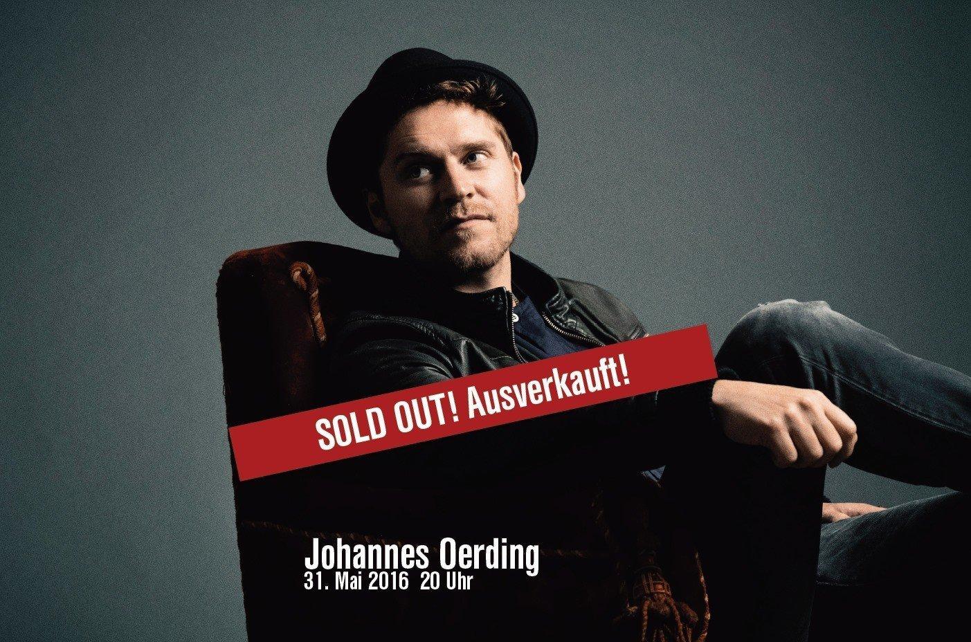 Johannes Oerding ausverkauft Festspiele in Concert